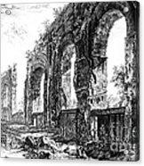 Ruins Of Roman Aqueduct, 18th Century Acrylic Print