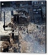 Ruins Of The Collapsed World Trade Acrylic Print by Everett