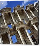 Ruins Of The Great Library At Ephesus Acrylic Print