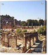 Ruins. Roman Forum. Rome Acrylic Print by Bernard Jaubert