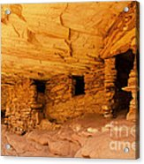Ruins Structures Acrylic Print by Bob and Nancy Kendrick