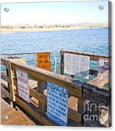 Rules Of The Pier  Acrylic Print