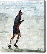 Run Rabbit Run Acrylic Print