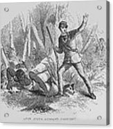 Runaway Slave With Armed Slave Catcher Acrylic Print