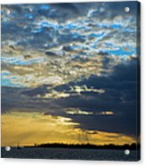 Running Out At Sunset Acrylic Print