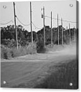 Rural Dirt Road In Black And White Acrylic Print