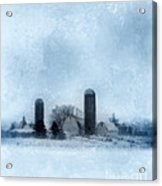Rural Farm In Winter Acrylic Print