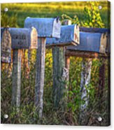 Rural Mail Boxes Acrylic Print