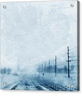 Rural Road In Winter Acrylic Print