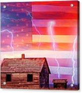 Rural Rustic America Storm Acrylic Print