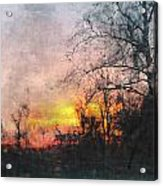 Rural Sunset  Art Acrylic Print