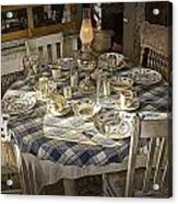 Rural Table Setting For Four No.3121 Acrylic Print