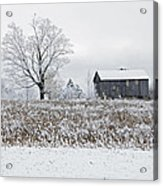Rural Winter Acrylic Print
