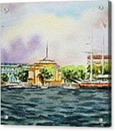 Russia Saint Petersburg Neva River Acrylic Print