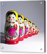 Russian Dolls Acrylic Print