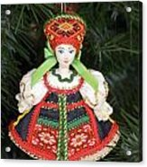Russian Folk Ornament Acrylic Print