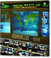 Russian Mission Control Center Acrylic Print by Nasa