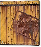 Rust In Sign Acrylic Print