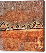 Rusted Antique Chevrolet Logo Acrylic Print
