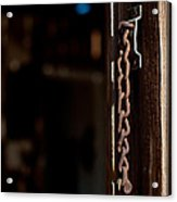 Rusted Chain Lock - Color Acrylic Print