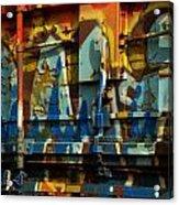 Rusted Graffiti Acrylic Print
