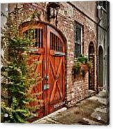 Rustic Door Acrylic Print