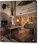 Rustic Lodge Acrylic Print