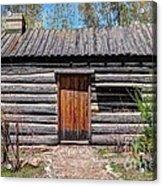 Rustic Pioneer Log Cabin - Salt Lake City Acrylic Print