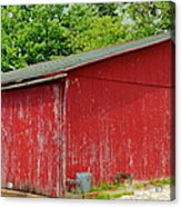 Rustic Red Acrylic Print