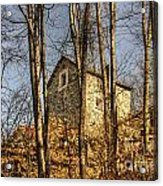 Rustic Stone House Acrylic Print