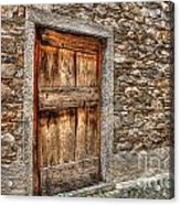 Rustic Stone House With Old Acrylic Print