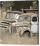 Rustic Trucks Acrylic Print