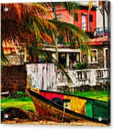 Rustic Village Acrylic Print