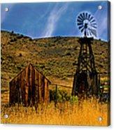 Rustic Windmill Acrylic Print