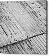 Rusting Repaired Corrugated Iron Roof Sheeting In Edinburgh Acrylic Print