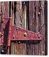 Rusty Barn Door Hinge  Acrylic Print