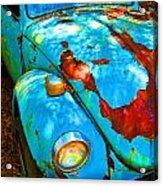 Rusty Blue Acrylic Print by Kendra Longfellow