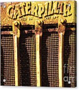 Rusty Caterpillar Acrylic Print