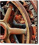 Rusty Flywheel  Acrylic Print