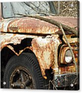 Rusty Ford Acrylic Print by Luke Moore