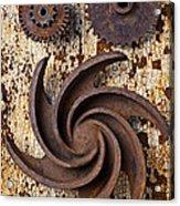 Rusty Gears Acrylic Print