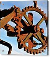 Rusty Gears Mechanism Acrylic Print
