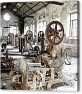 Rusty Machinery Acrylic Print by Carlos Caetano
