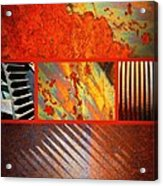 Rusty Metal Canvas Acrylic Print