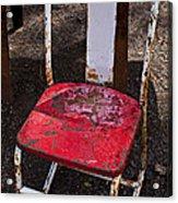 Rusty Metal Chair Acrylic Print by Garry Gay