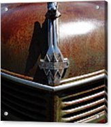 Rusty Old 1935 International Truck Hood Ornament. 7d15503 Acrylic Print by Wingsdomain Art and Photography