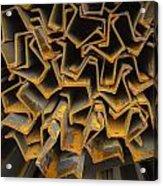 Rusty Fenceposts Acrylic Print