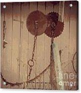 Rusty Saw Blades Acrylic Print