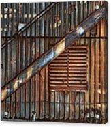 Rusty Stairway Acrylic Print by Brenda Bryant