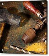 Rusty Tools Acrylic Print